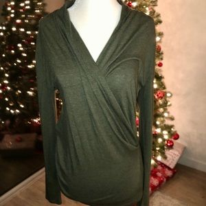 Never worn Olive Ann Taylor Wrap Top